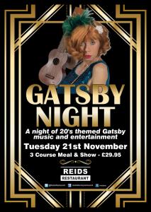 66538 Tues 21st Nov Gatsby Night A2 Poster