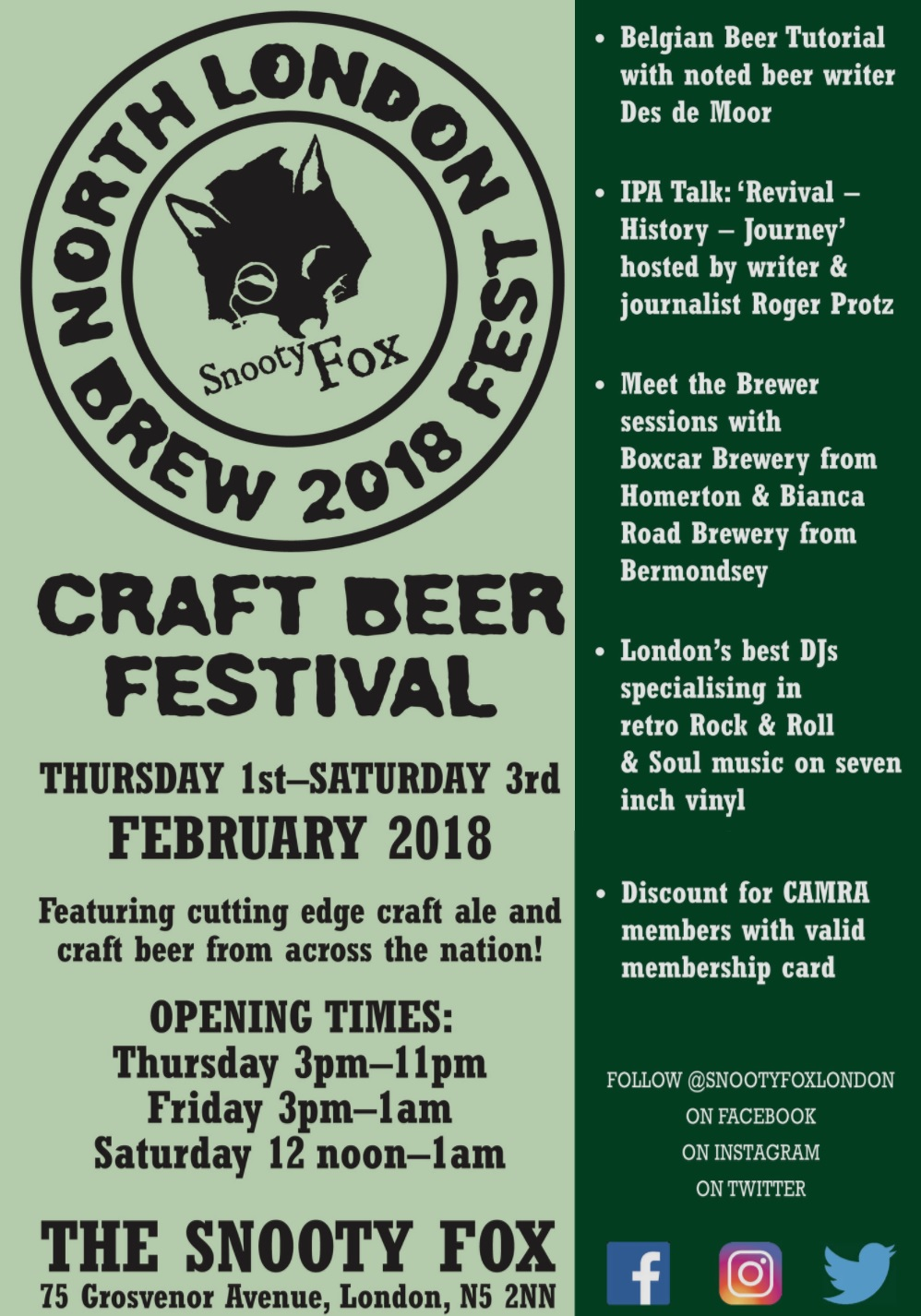 The North London Brew Fest 2018 Events for London
