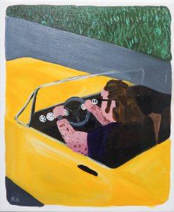 Audun Alvestad Yellow Cab Driver Acrylic on Canvas 41x34 cm 2018
