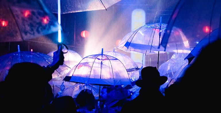 Glowy Umbrellas