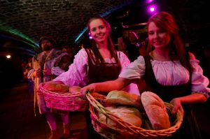 medieval banquet and merriment by torchlight in london in london 149514