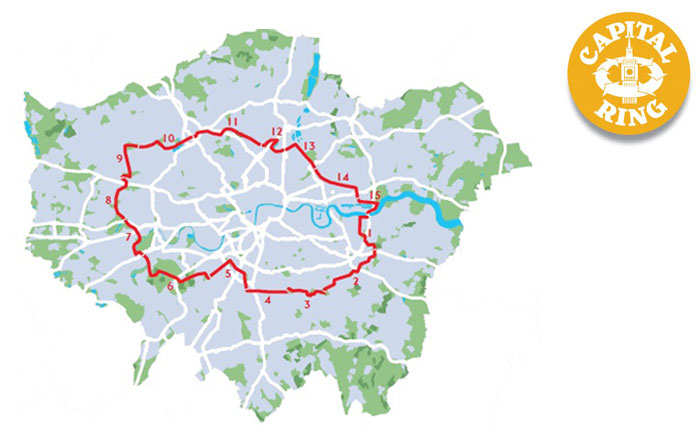 Capital Ring Walk Map ⋆ The City Ring Walk ⋆ Events for LONDON
