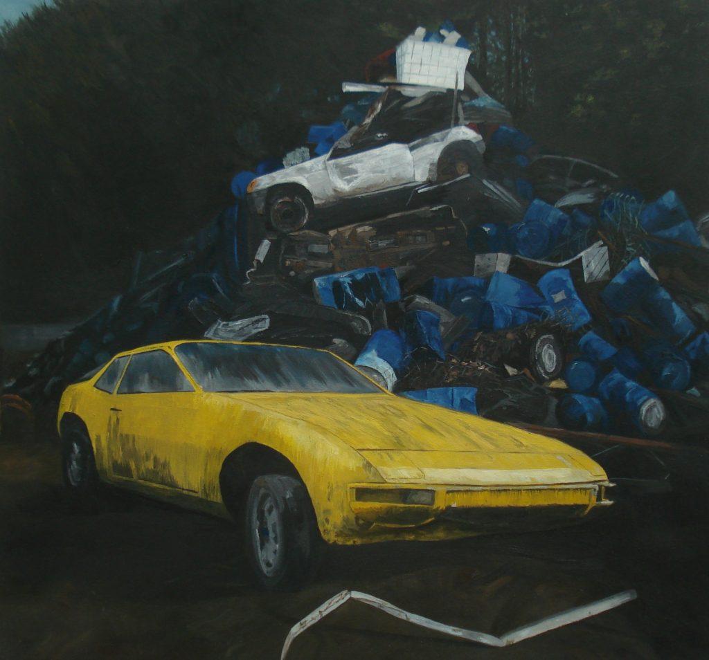 Cains Rebecca Porsche 924 in Halls Scrap Yard