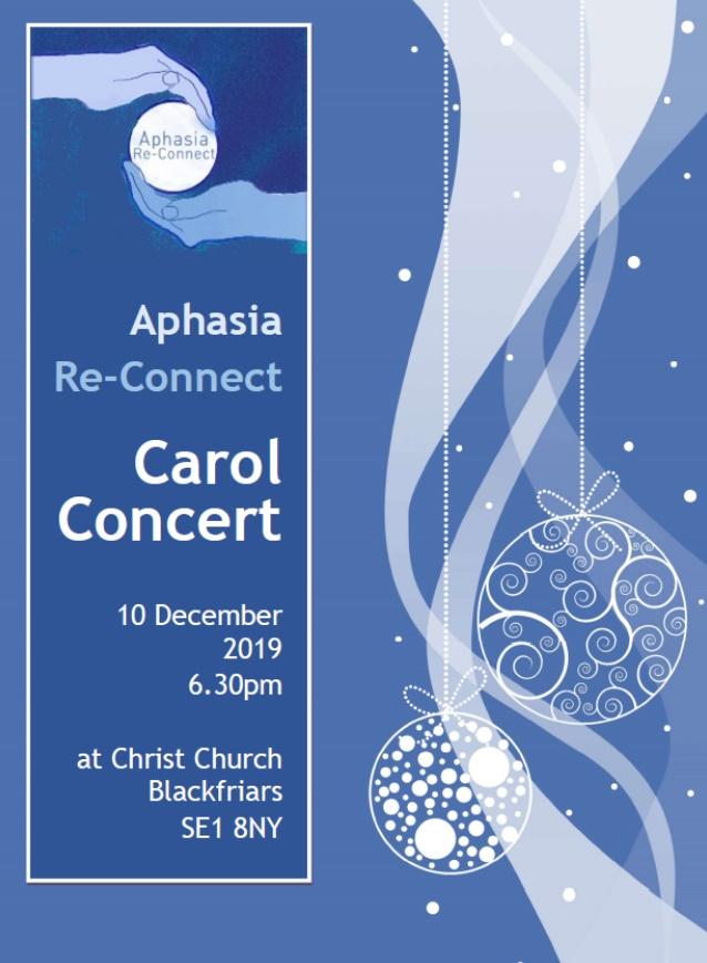 carol concert 10 Dec 2019 Aphasia ReConnect
