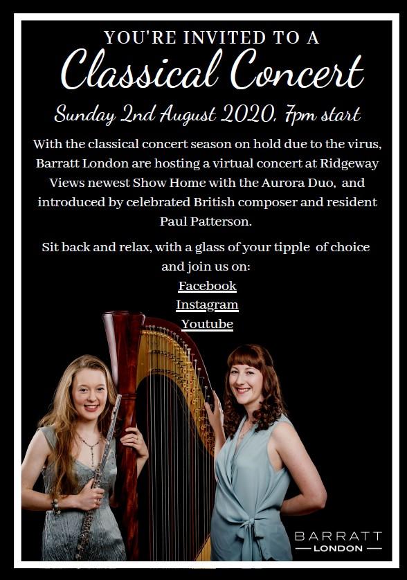 Barratt London concert invite