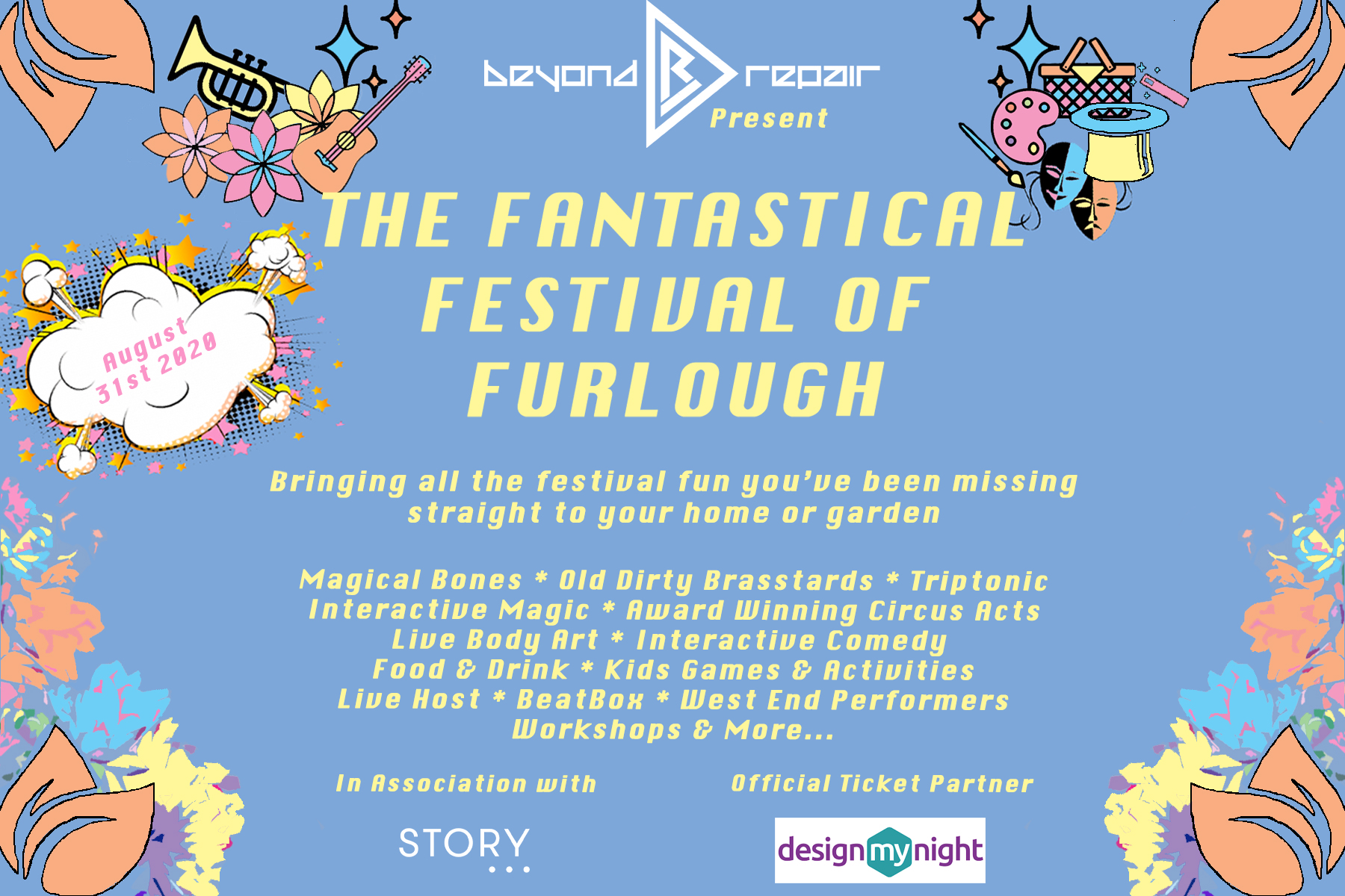 Festival Flyer with Date
