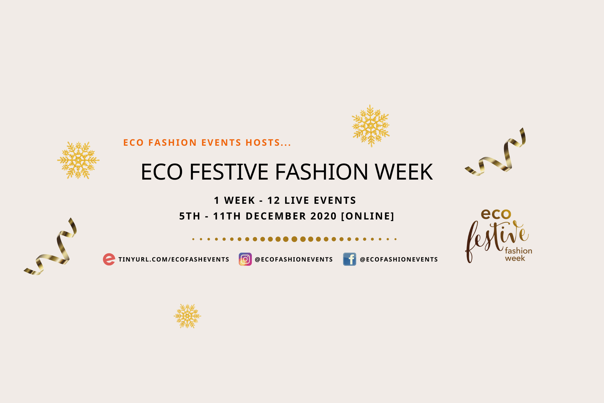 FOR LONDON EVENTS Eco Festive Fashion Week General Information Poster 5
