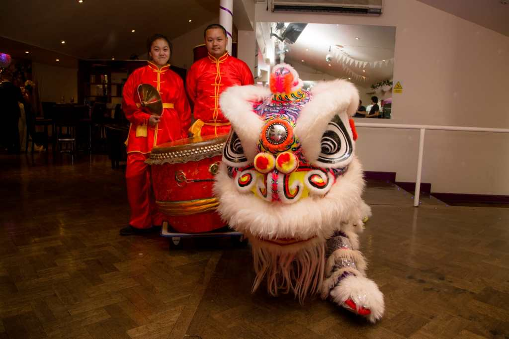 White Chinese Lion Dance Dancers London