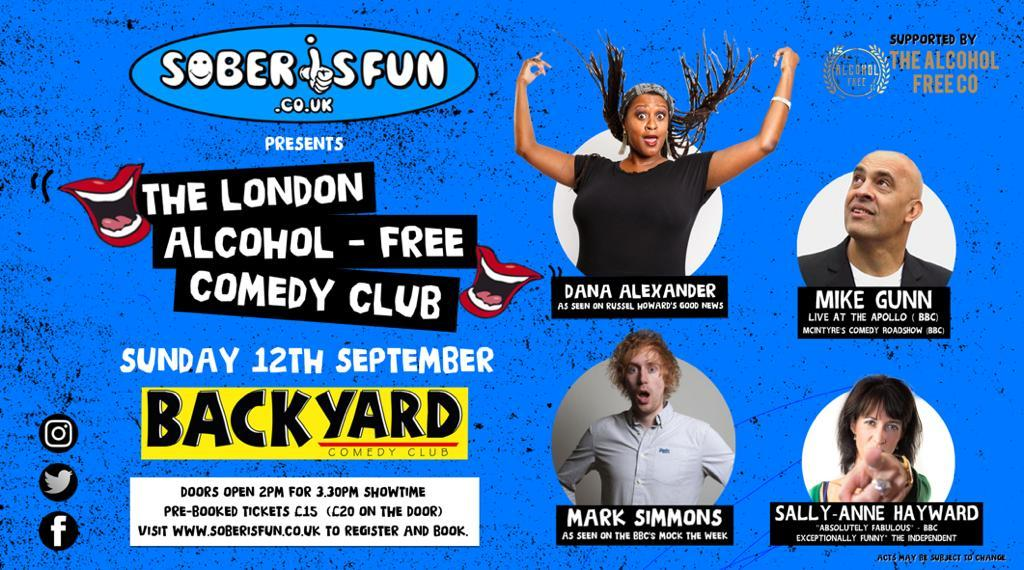 Alcohol Free Comedy Events in London