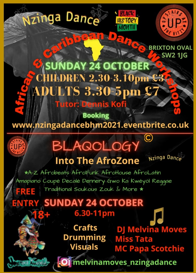 African and Caribbean Cultural Dance Workshops in Brixton London